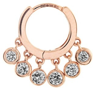 Jacquie Aiche Diamond & Rose Gold Earring - Womens - Rose Gold