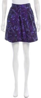 Lela Rose Silk Mini Skirt
