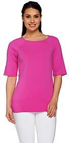 Denim & Co. Active T-shirt with Back ShirringDetail