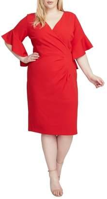 Rachel Roy Ruffle Sleeve Midi Dress