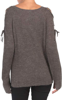 Lace Up Shoulder Detail Sweater