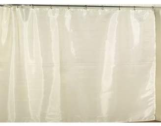 Carnation Home Fashions Extra Wide Polyester Fabric Shower Curtain Liner in Ivory