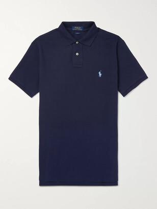 Polo Ralph Lauren Slim-Fit Cotton-Pique Polo Shirt - Men - Blue