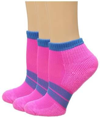 Thorlos 84 N Runner Micro Mini 3-Pair Pack Women's Low Cut Socks Shoes