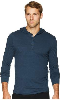 Threads 4 Thought Tri-Blend Jersey Henley Hoodie Men's Sweatshirt