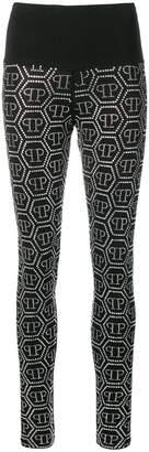 Philipp Plein black crystal leggings