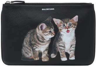 Balenciaga Kitten leather pouch