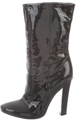 Jimmy Choo Patent Leather Round-Toe Boots
