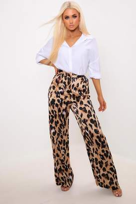 c2477038c71a I SAW IT FIRST Leopard Print High Waisted Wide Leg Trousers
