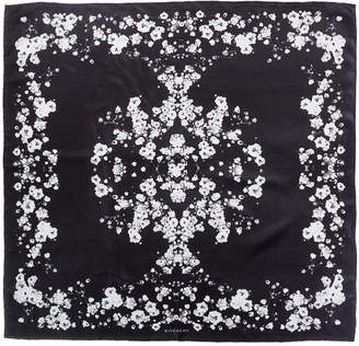 Givenchy Flower Print Silk Scarf