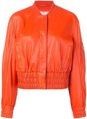 Stand elasticated bomber jacket