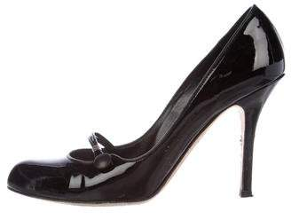 Christian Dior Patent Almond-Toe Pumps
