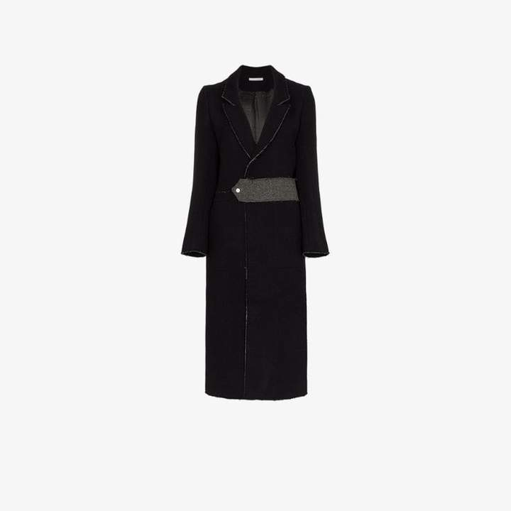 Lot78 raw edge back split wool blend coat