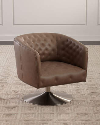Bernhardt Geneva Leather Swivel Chair