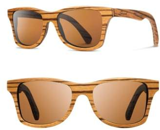 Shwood 'Canby' 54mm Polarized Wood Sunglasses