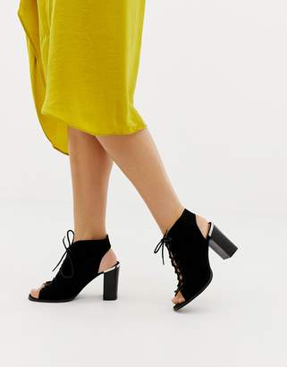 Asos DESIGN Truly lace up heeled sandals