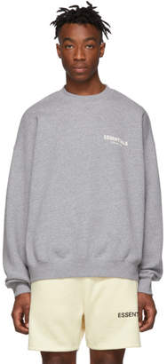 Essentials Grey Pullover Crewneck Sweatshirt