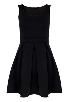 Quiz Black Pleated Skater Dress