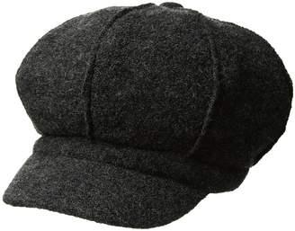Scala Boiled Wool Newsboy Caps