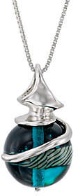 Kalos by Hagit Sterling Silver Blue Glass Pendant w/ Chain