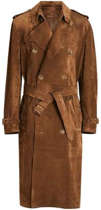 Burberry Suede Trench Coat