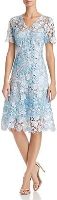 Elie Tahari Samari Lace Fit-and-Flare Dress