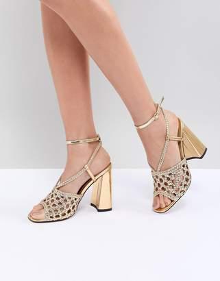 Asos DESIGN Helix Woven Heeled Sandals