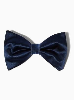 Topman Mens Premium Navy Silk Bow Tie