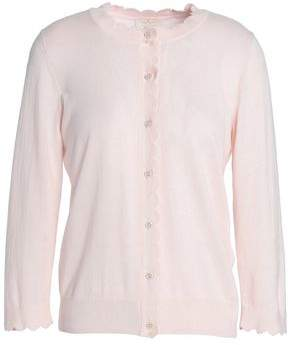 Kate Spade Rambling Roses Silk Cotton And Cashmere-Blend Cardigan