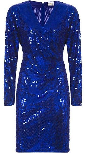 Vintage Collection Oleg Cassini Sapphire Sequin Dress