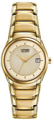 Citizen Analog Eco-Drive Champ Goldtone Bracelet Watch