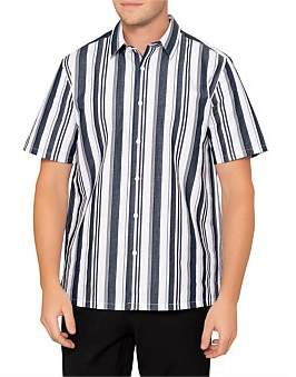 Theory Irving Wide Stripe S/S Shirt