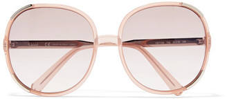 Chloé - Myrte Square-frame Acetate Sunglasses - Peach