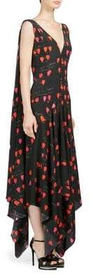 Alexander McQueen Silk Handkerchief Petal Print Dress