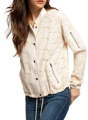 Dex Embroidered Floral Lace Cotton Jacket