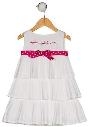 Agatha Ruiz De La Prada Girls' Sleeveless Pleated Dress