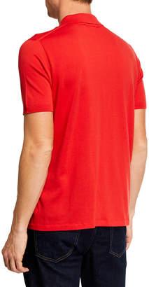Brioni Men's Short-Sleeve Solid Polo Shirt