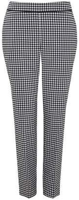 Wallis Monochrome Gingham Straight Leg Trouser