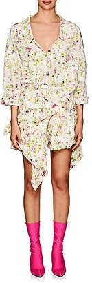 Faith Connexion Women's Floral Silk Crepe Wrap Shirtdress - White
