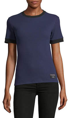 Calvin Klein Jeans Ribbed Short-Sleeve Tee