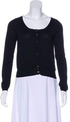 Prada Scoop Neck Button-Up Cardigan