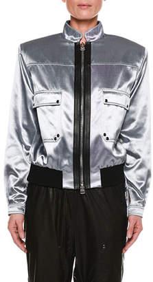 Tom Ford Iridescent Sateen Bomber Jacket