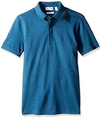 Lacoste Men's Casual Elegance Short Sleeve Pique Jersey Stripe Slim Polo