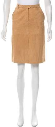 Malo Casual Leather Skirt