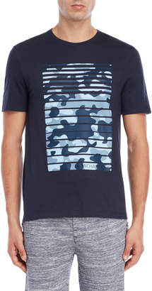 Michael Kors Navy Stripe Camo Tee