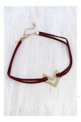 Canvas Red&Gold Choker