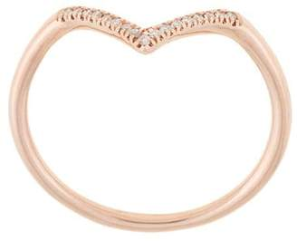 Natalie Marie 14kt rose gold diamond point ring