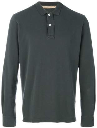 Eleventy classic long sleeve polo shirt