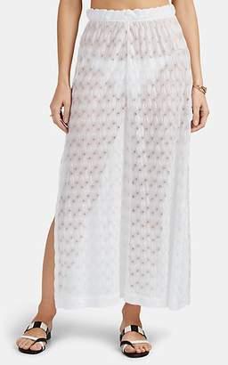 Missoni Mare Women's Side-Slit Wide-Leg Pants - White