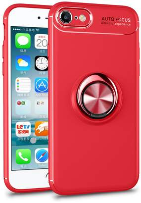 Highley iPhone 8 Case with Magnetic 360 Rotating Ring Holder Slim Kickstand Case
